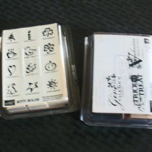"""Stampin' Up! 1998 Set of 4 Rubber Stamps  """"Bitty B"""